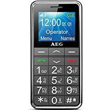 """AEG M250 - Móvil libre (pantalla 1.8"""", teclados grandes), negro"""