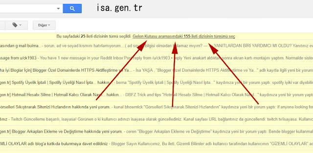 gmail gelen kutusunu kolay yoldan temizlemek