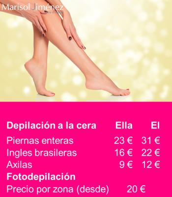Precios de depilación y Fotodepilación por luz pulsada en Barcelona