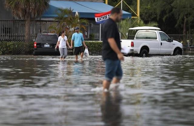 Marea Real vuelve a inundar costas de Miami por la súper Luna