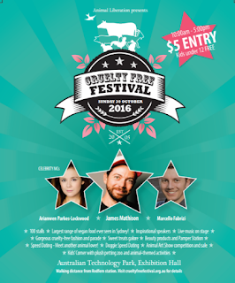 Poster for Cruelty Free Festival 2016