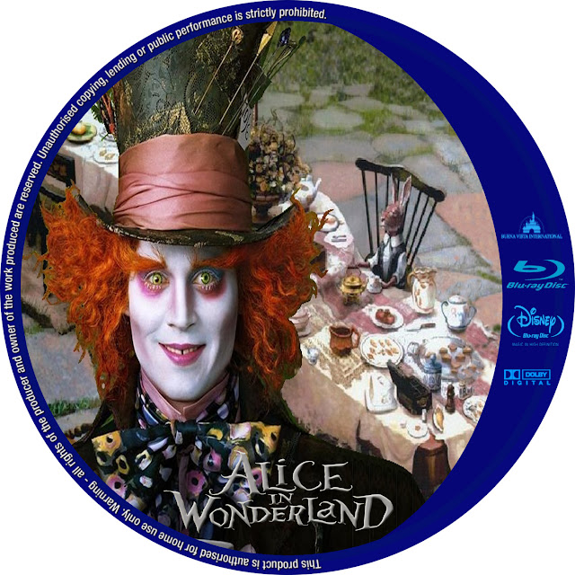 Alice In Wonderland Bluray Label