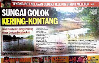 Air Sungai Kering Jalan Kaki Ke Golok