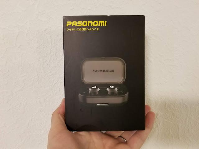 Pasonomiのイヤホンが入っていた箱の外装写真