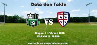 Data dan Fakta Liga Fantasia Serie A Gio 24 Sassuolo vs Cagliari Fantasi Manager Indonesia