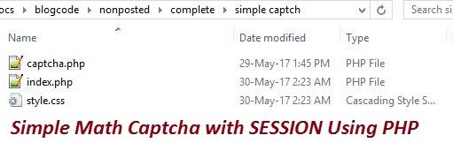 PHP Simple Math Captcha