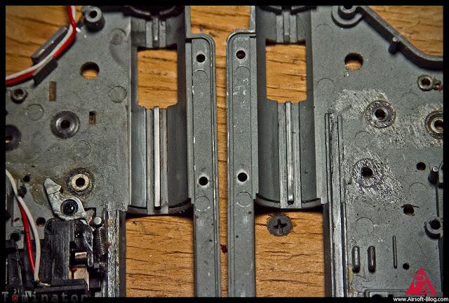 polishing AEG gearbox piston rails, AEG upgrade tips, Custom Airsoft Guns, Custom Airsoft AEGs, Airsoft Gun Reviews, Pyramyd Airsoft Blog, Tom Harris Media, Tominator