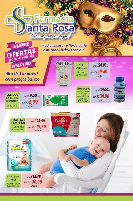"""Farmácia Santa Rosa divulga """"super-ofertas"""" para o mês de fevereiro"""