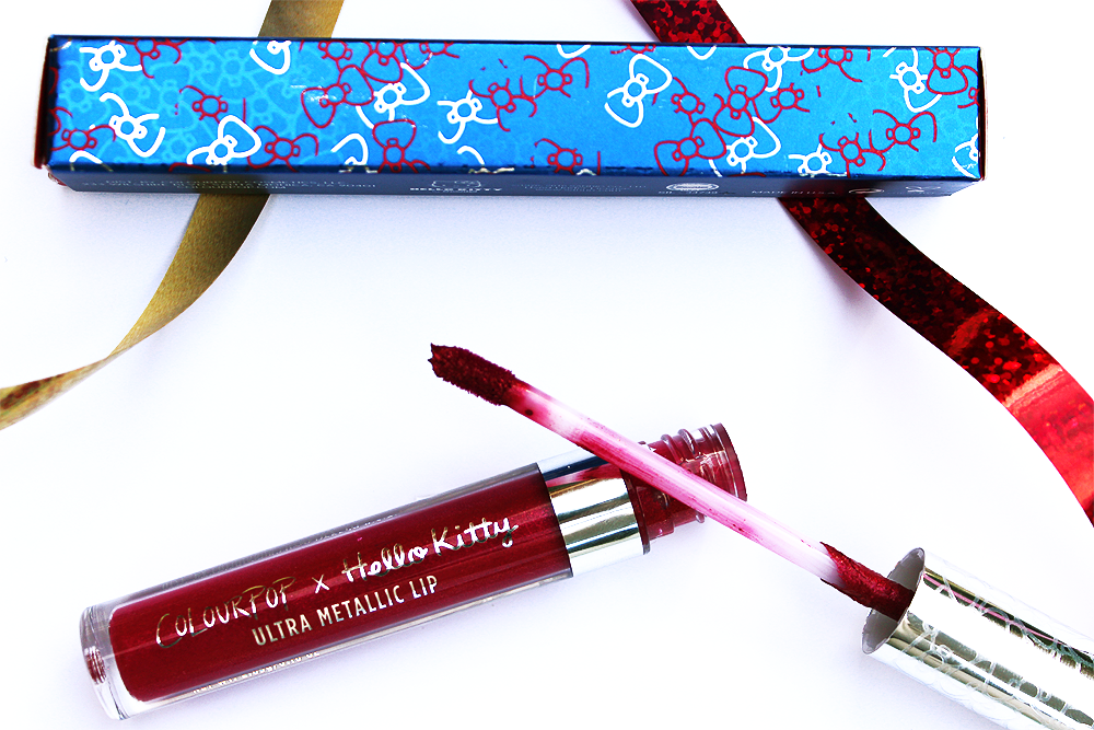 Coloupop Surprise Ultra Metallic Lip swatches and review applicator