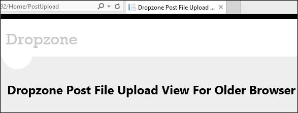 Drag & Drop File Upload In ASP NET MVC Using dropzone js