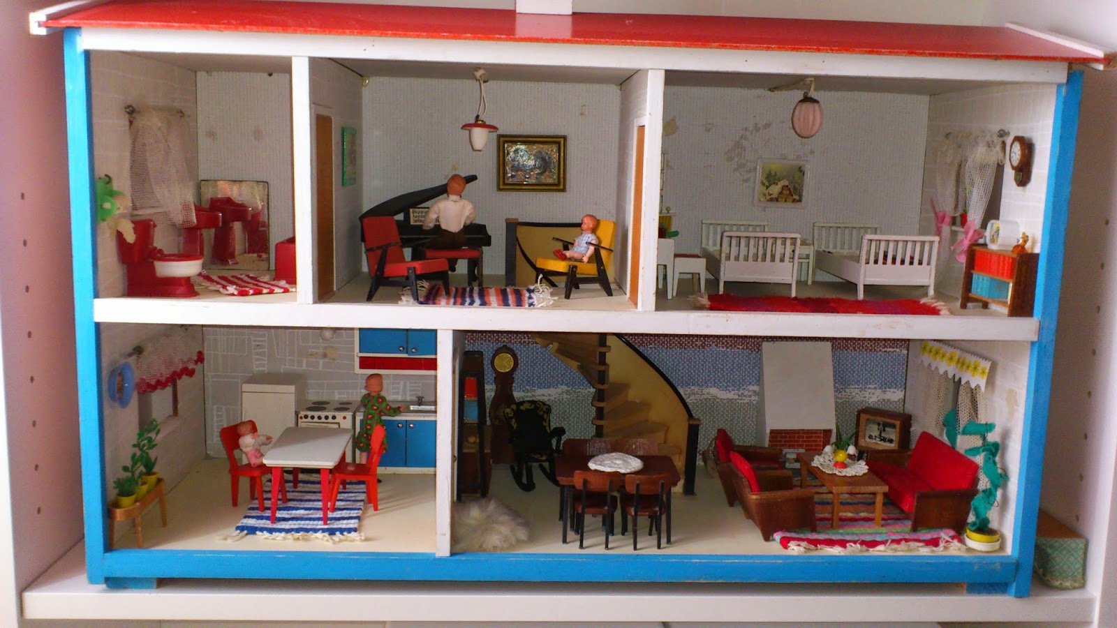 Mina Docksk 229 P A 1960s Lundby With Spiral Staircase