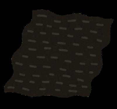 湿気た海苔のイラスト