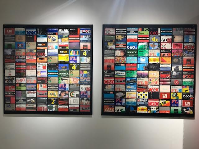 大ラジカセ展で展示されていたカセットテープです。