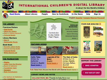 Access Tons of Kids' Books and Other Reading Materials