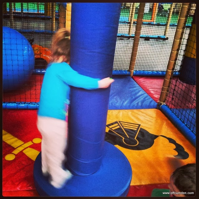 Spinning at soft play