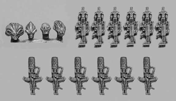Wargame News and Terrain: CP Models: New Weapons, Alien