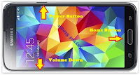 Enter Download Mode on Samsung Galaxy S5.