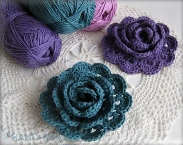 Crochet flowers creative