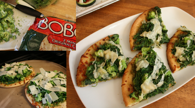 Broccoli and Arugula Pizza on Boboli Crust