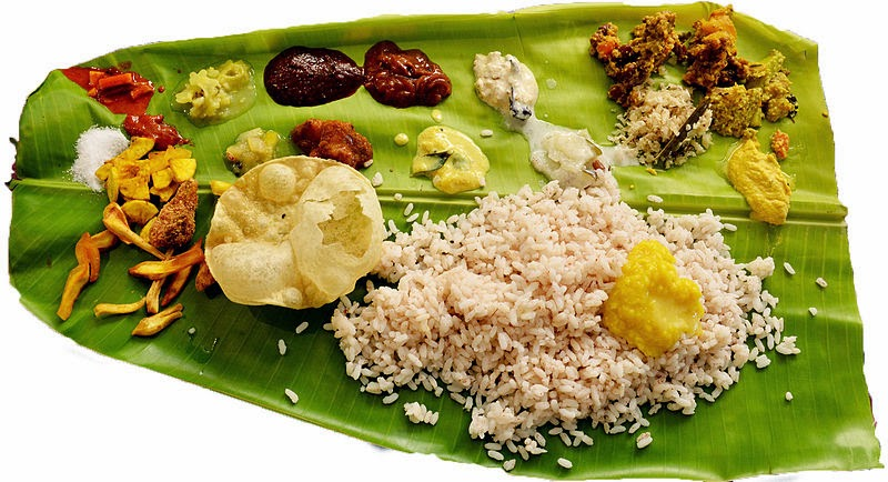 Food eaten on Onam: Onasdya (Onam Feast)