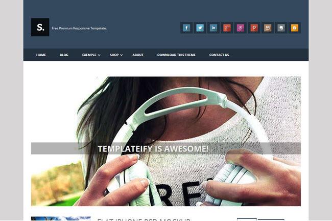 Sentify - Responsive Blogger Template
