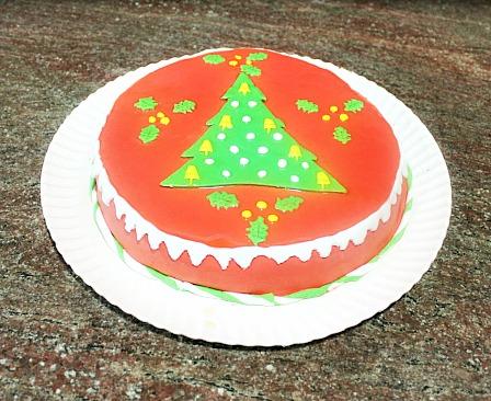 Mi primer pastel decorado con fondant