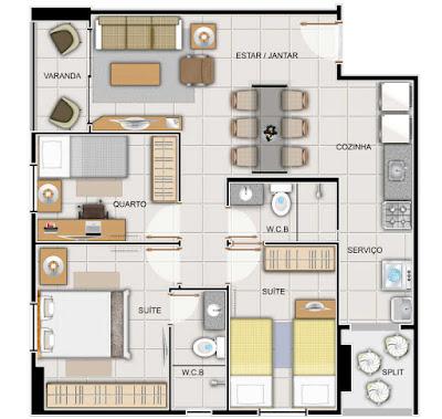3 quartos é uma ótima opção.