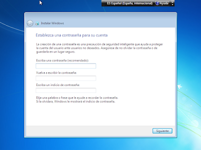 clave de inicio windows 7 usb