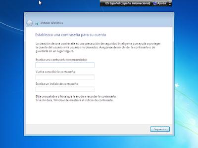 clave de inicio windows 7 usb