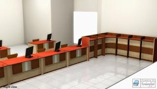 Kontraktor Interior - Meja Customer Service, Partisi Gudang, Meja Tulis Berdiri