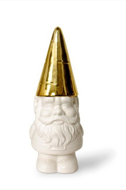 Gold hatted Gnome Container - Amazon