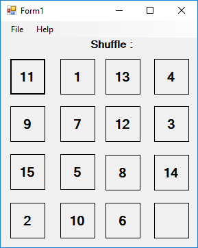 Developing skills: Create Shuffle Game in asp.net with c#.