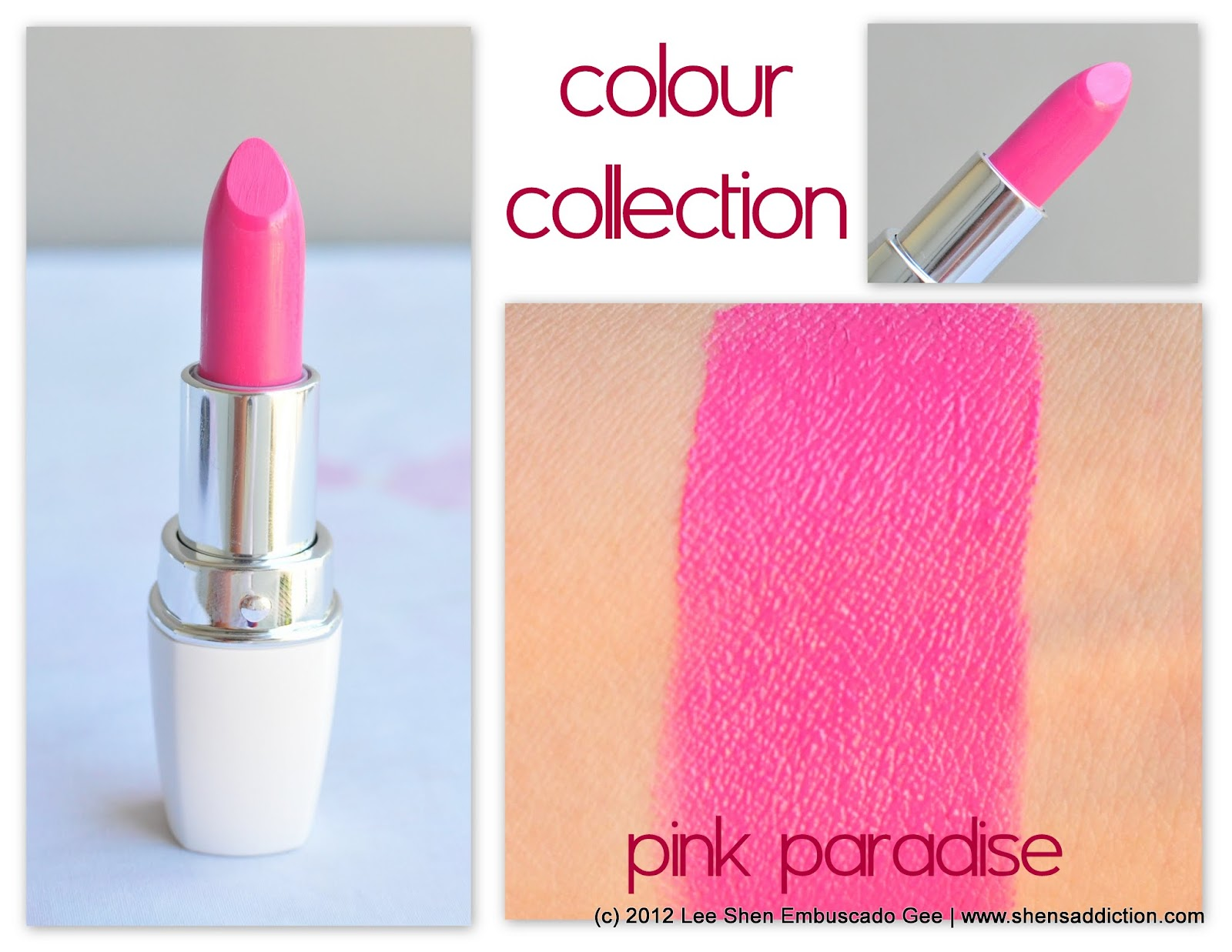 Colour Collection Moisture Intense Lipstick In Paradise Pink Is An Opaque Lip Color It S Moisturizing And Lasts At Least Up To 2 4 Hours On