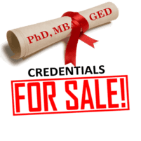 Existe diplomas e teses falsos à venda onde quer que se deseje comprar.