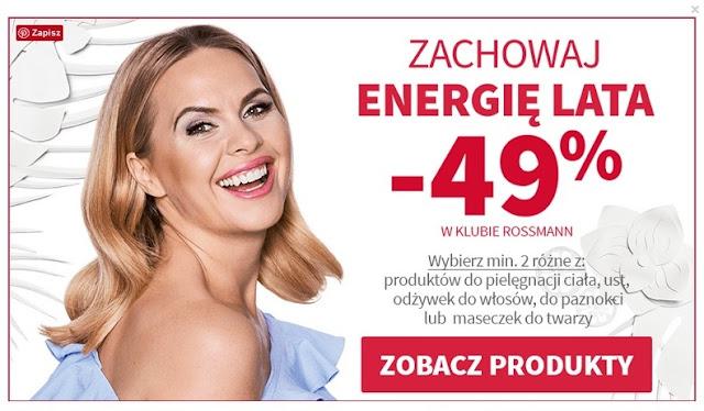 Rossmann – 49% Zachowaj energię lata - sierpień 2017 - moje propozycje zakupów