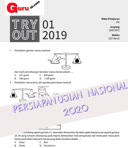 GAMBAR soal try out IPA SMP 2019