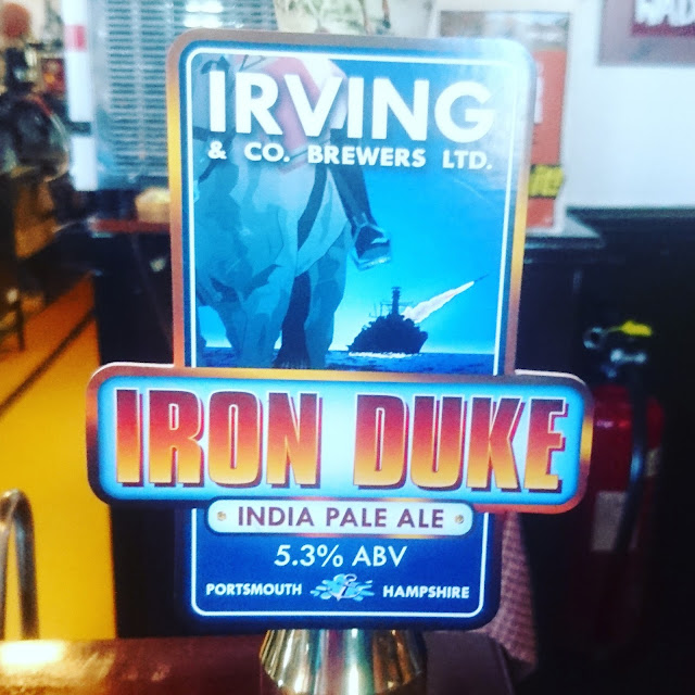 Hampshire Craft Beer Review: Iron Duke from Irving and Co Brewers real ale pump clip