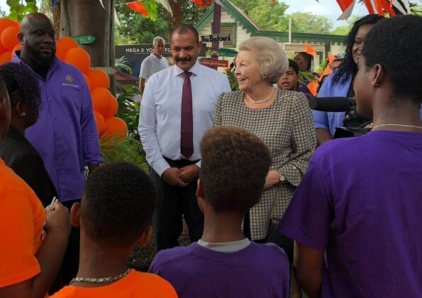 Princess Beatrix made a visit to ReforeStatia, a reforestation project on St Eustatius. Princess visited the King Foundation