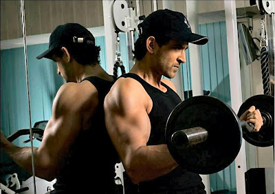 Hrithik in Gym for Body Building.
