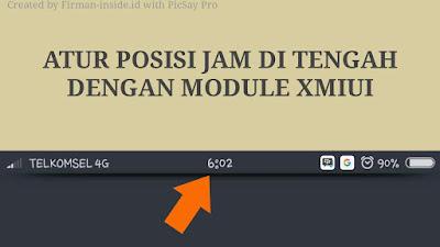 Mengatur Posisi Jam Pada Status Bar Xiaomi Dengan Module XMIUI