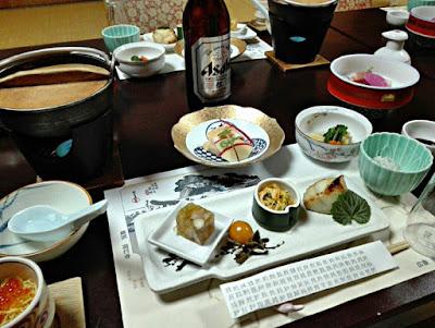 岩本楼の夕食