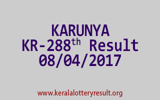 KARUNYA Lottery KR 288 Results 8-4-2017