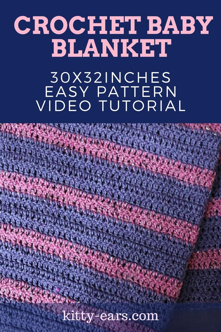 Kitty adventures crochet baby blanket tutorial crochet baby blanket tutorial baditri Image collections