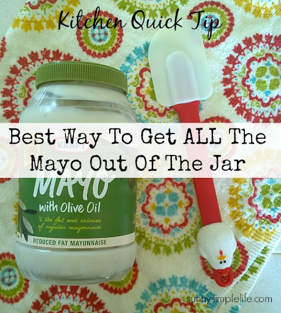 rubber spatula, Mayo jar, kitchen frugal tips