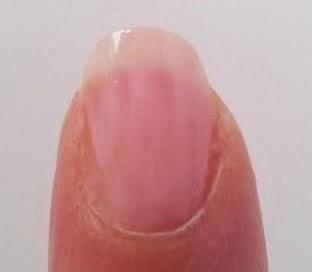 streaky nail polish