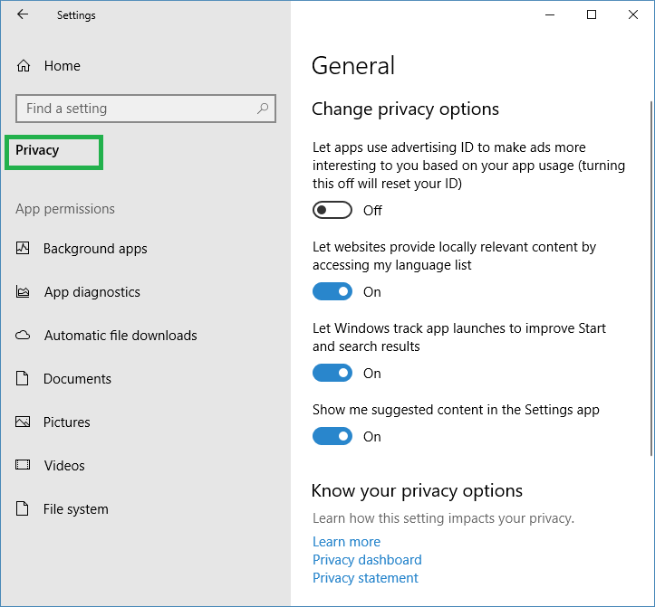 How to stop windows apps accessing to Documents-Pictures-Videos-www.ceofix.net/