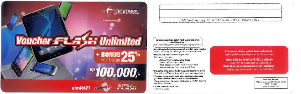 Voucher Telkomsel Flash Unlimited - Kumpulan Artikel Bersama