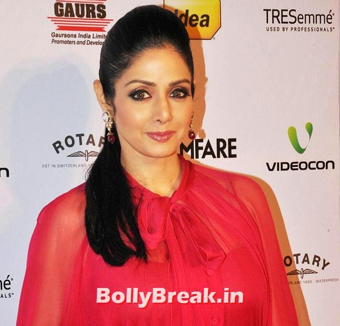Sridevi, Bollywood Eye makeup - Pictures of Actresses Eyes - Tips, Eye Color