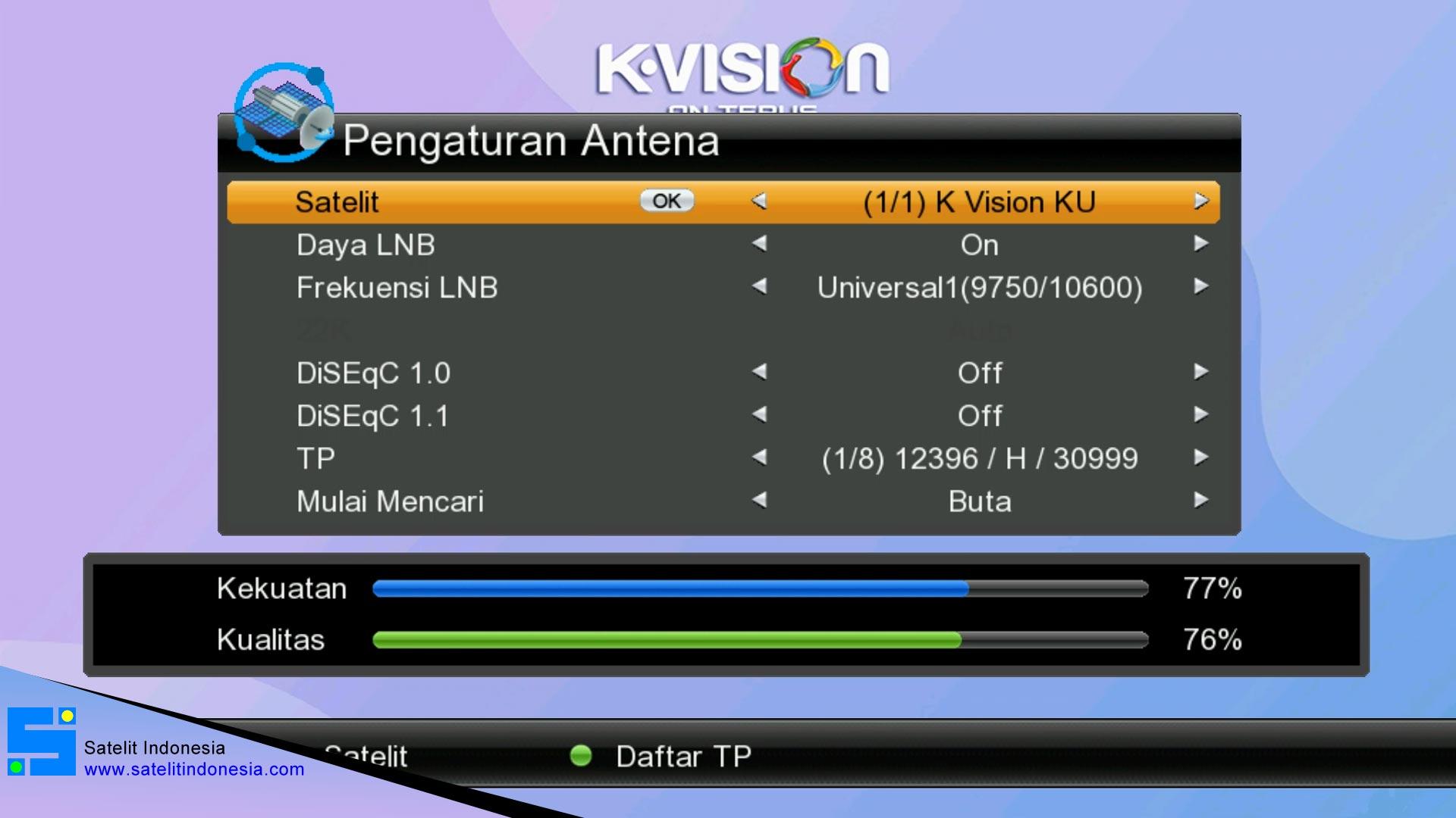 Cara Setting Receiver Lgsat Stars Untuk Channel K Vision
