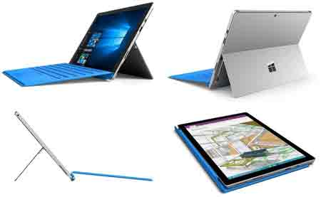 Microsoft Surface Pro 4 31,2cm (12,3 Zoll) Tablet-PC (Intel Core i5-6300U, 4GB RAM, 128GB SSD, Intel HD Graphics, WLAN, Windows 10 Pro)